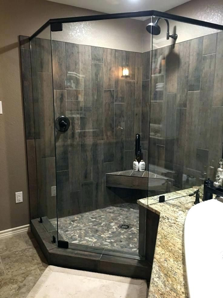 Diy Shower Ideas River Rock Shower Floor Rock Tile Shower Best
