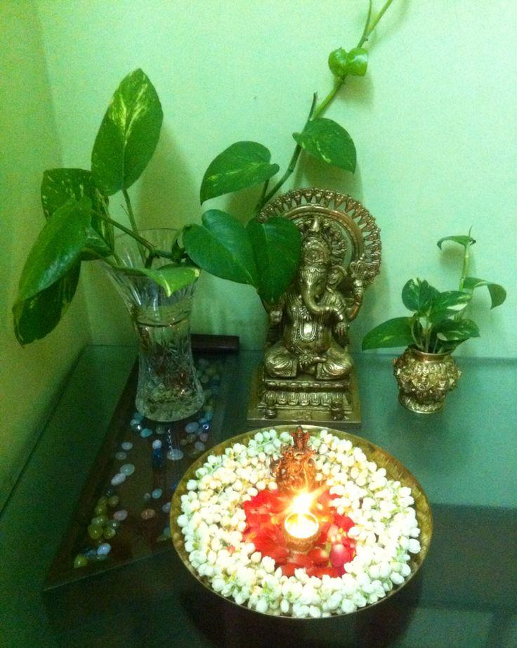 Ganesh and jasmines