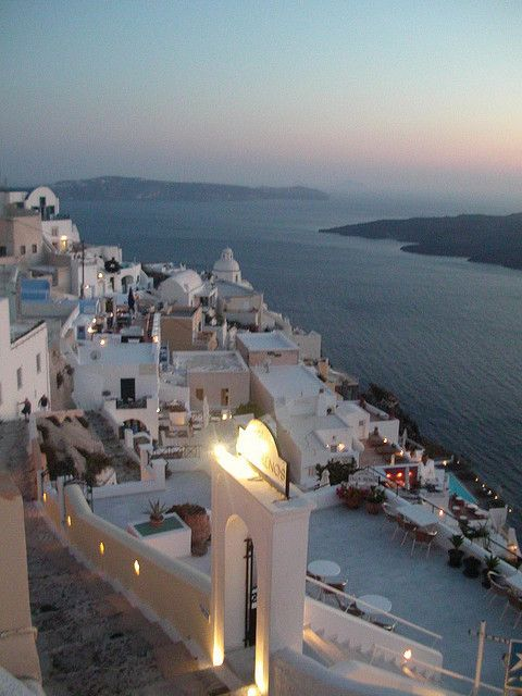 Nothing less than perfect  Santorini view  member of the Cyclades group of Greece islands