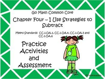 This is the fourth of my new series of activities. It includes activities for each of the lessons for Go Math Common Core First Grade chapter four. There is also an assessment covering all the skills taught in this chapter.The activities include:Counting BackAdd to find differenceUsing addition to solve subtractionUsing ten frames to subtract (2)Word Problem solvingChapter assessmentCheck back soon for more in this series!