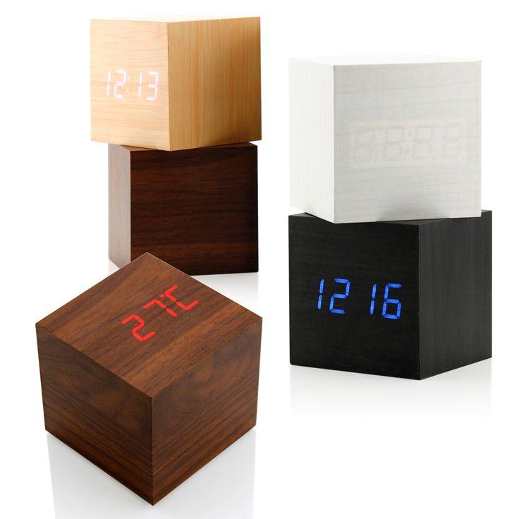 New Modern Wooden Wood Digital LED Desk Alarm Clock Thermometer Timer Calendar #UnbrandedGeneric #Modern