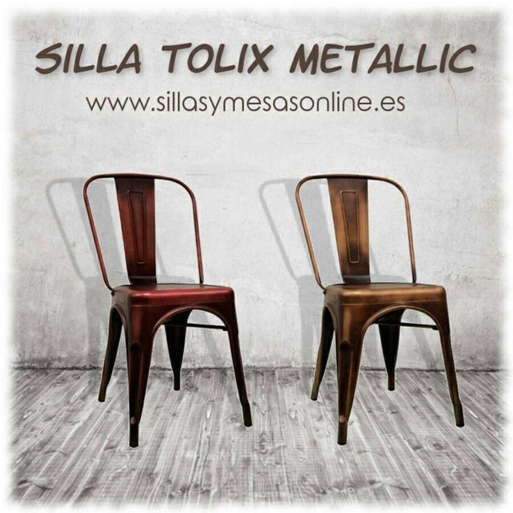 💥¿Buscas para tu negocio mobiliario vintage con personalidad? Te presentamos la Silla Tólix Metallic en acabado cobre, bronce así como metalizados... ¡Consíguela de forma rápida, segura y con total garantía en nuestra tienda online! ☞https://sillasymesasonline.es/mobiliario-vintage/silla-tolix-metallic