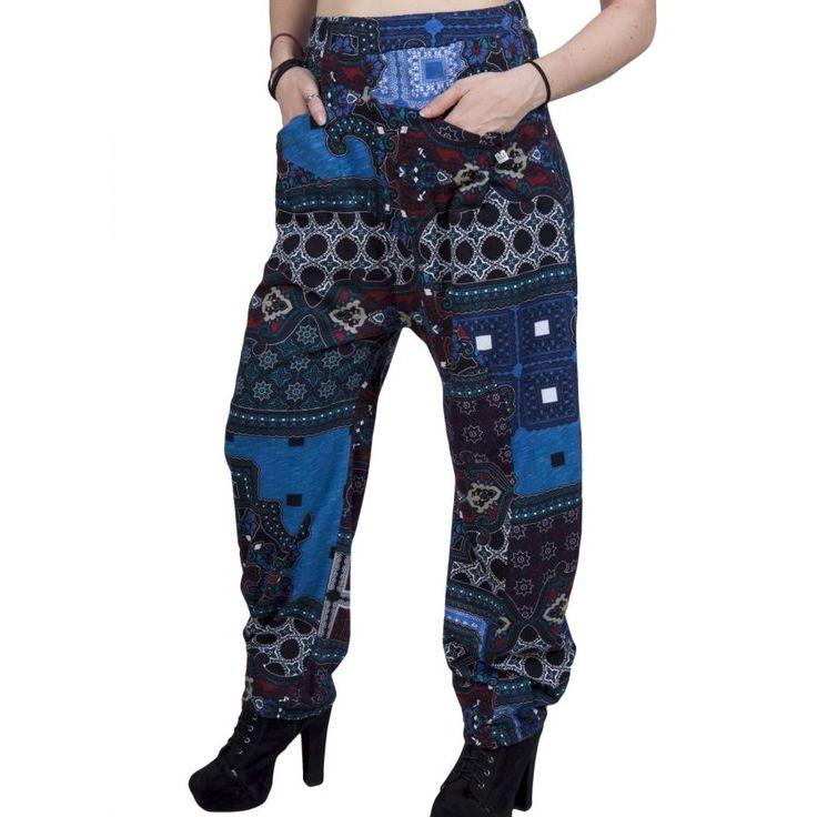 ALE Γυναικεία έθνικ εμπριμέ παντελόνι, τσέπες