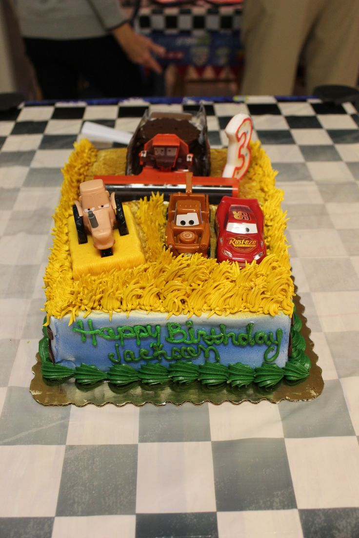 Cars Themed Cake From The Publix Bakery Themed Cakes