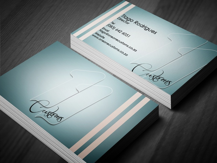 One One Customs Business Card Design