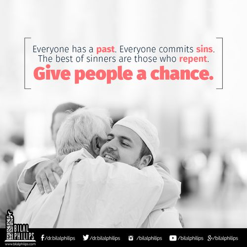 Are you opening your heart to give people a chance? Nobody is perfect. Let us love one another!