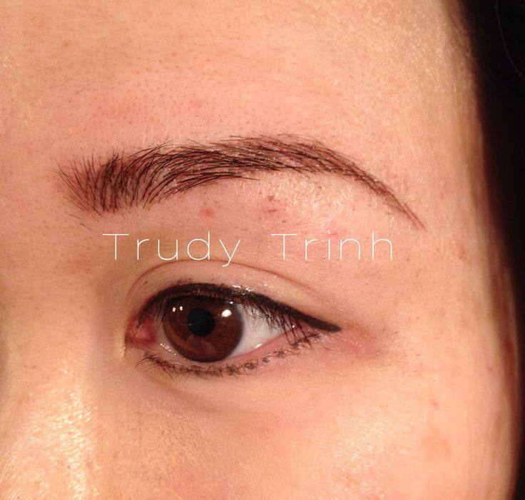21 best images about semi permanent eyebrow hairstroke for Semi permanent tattoo eyebrows