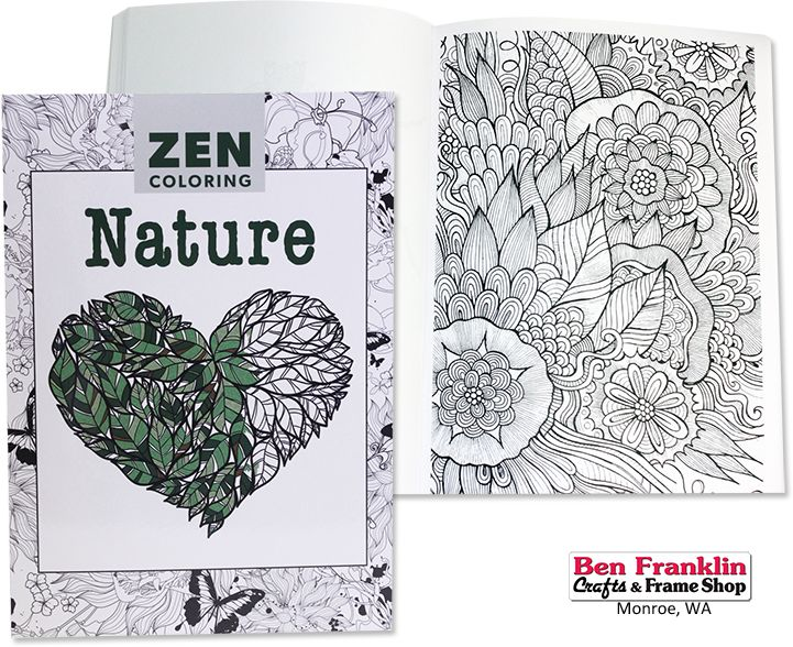 Zen Coloring Nature Each Book Contains More Than 40 Theme Specific Designs