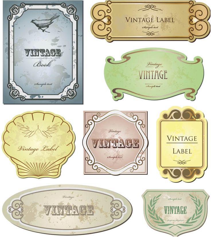 Vintage style labels vector set 2.  FREE DOWNLOAD