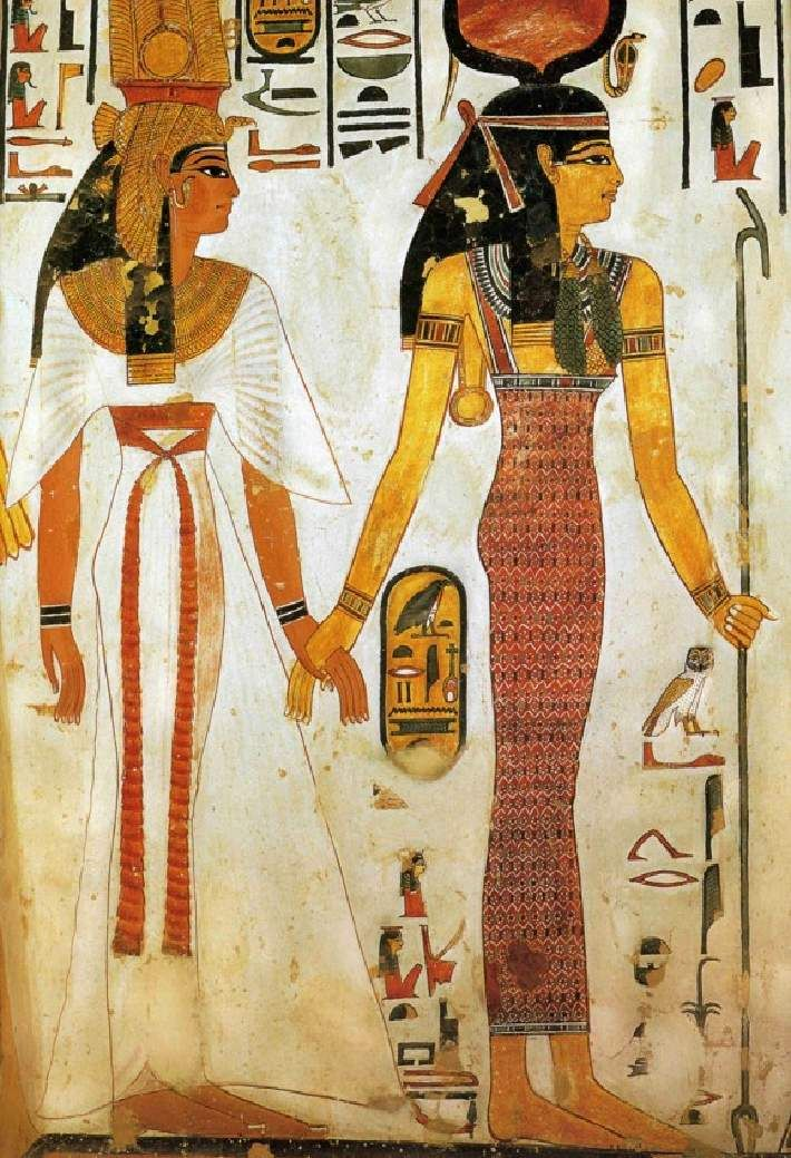 Nefertari crosses to the next world with Isis. (What Would Nefertari Do?)