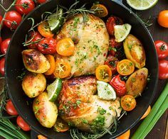 Roast Chicken Quarters with Potatoes and Tomatoes | BeachbodyBlog.com
