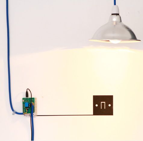 Create a light switch with Electric Paint, the Touch Board and an Arduino Relay Shield! #hack #play #make #designer #gift #creative #electronics #learning