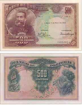 500 Escudos I , 1922