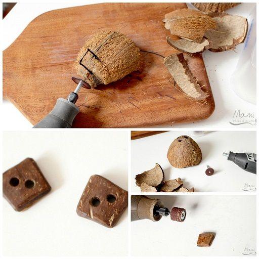 Riciclo noci di cocco: come fare bottoni � Tutorial