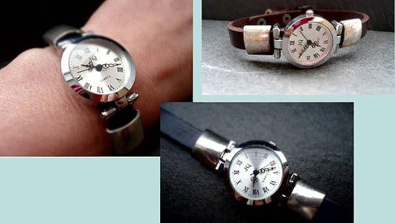 Armbanduhr mit Schiebeperlen Slider Lederluhr Uhr