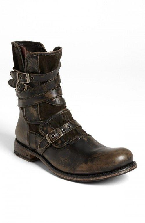John+Varvatos+Collection+Engineer+Boots+Charcoal+9+5+ +Footwear
