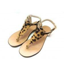 Sandale cu talpa joasa Bej Pony.