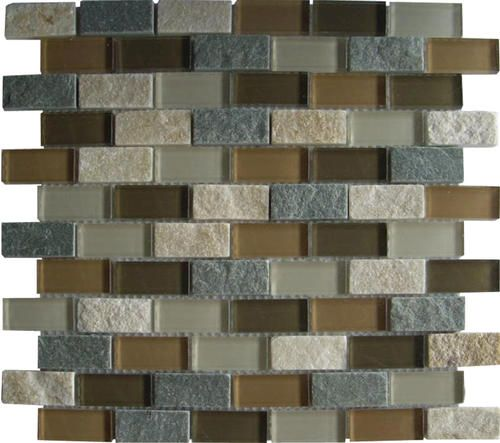 Mohawk vela mosaic floor or wall tile 1 x 2 at menards for Menards backsplash