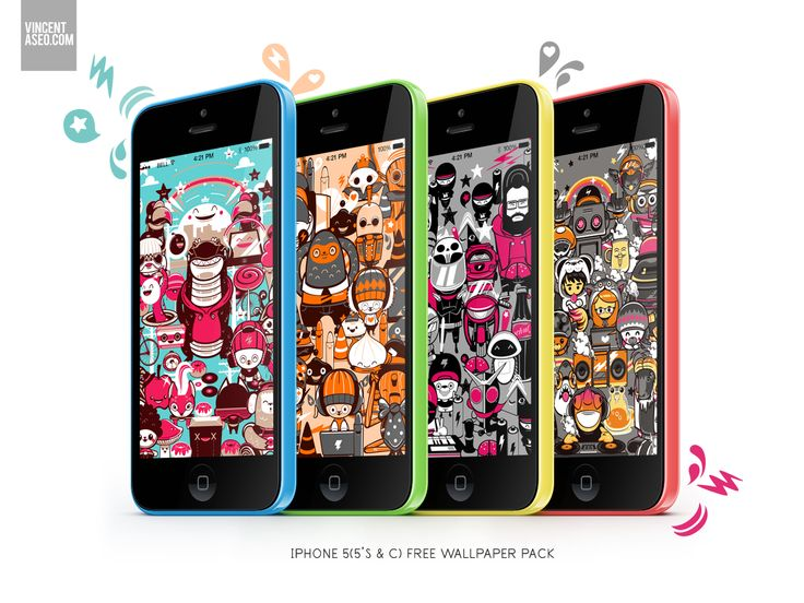 Free wallpaper pack for your Iphone 5 (c/s). dowload by clicking here
