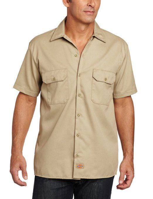 Dickies men 39 s big tall short sleeve work shirt clothing for Tall mens work shirts