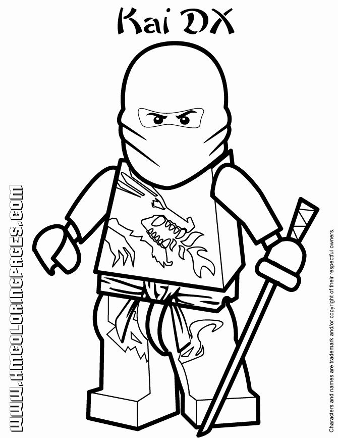 28 Kai Ninjago Coloring Page In 2020 Ninjago Coloring Pages