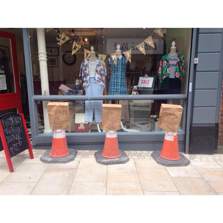 Check out our new window display!! Join us in our fashion protest against the ongoing roadworks in Preston City Centre!!! Support the cause and Shop local at 21 Guildhall Street, Preston City Centre!!! Don't forget you can shop online at www.maryandmilly.co.uk for FREE UK DELIVERY!!! ⛔️