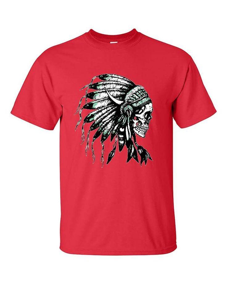 Indian Skull Headdress Native Americans T-Shirt