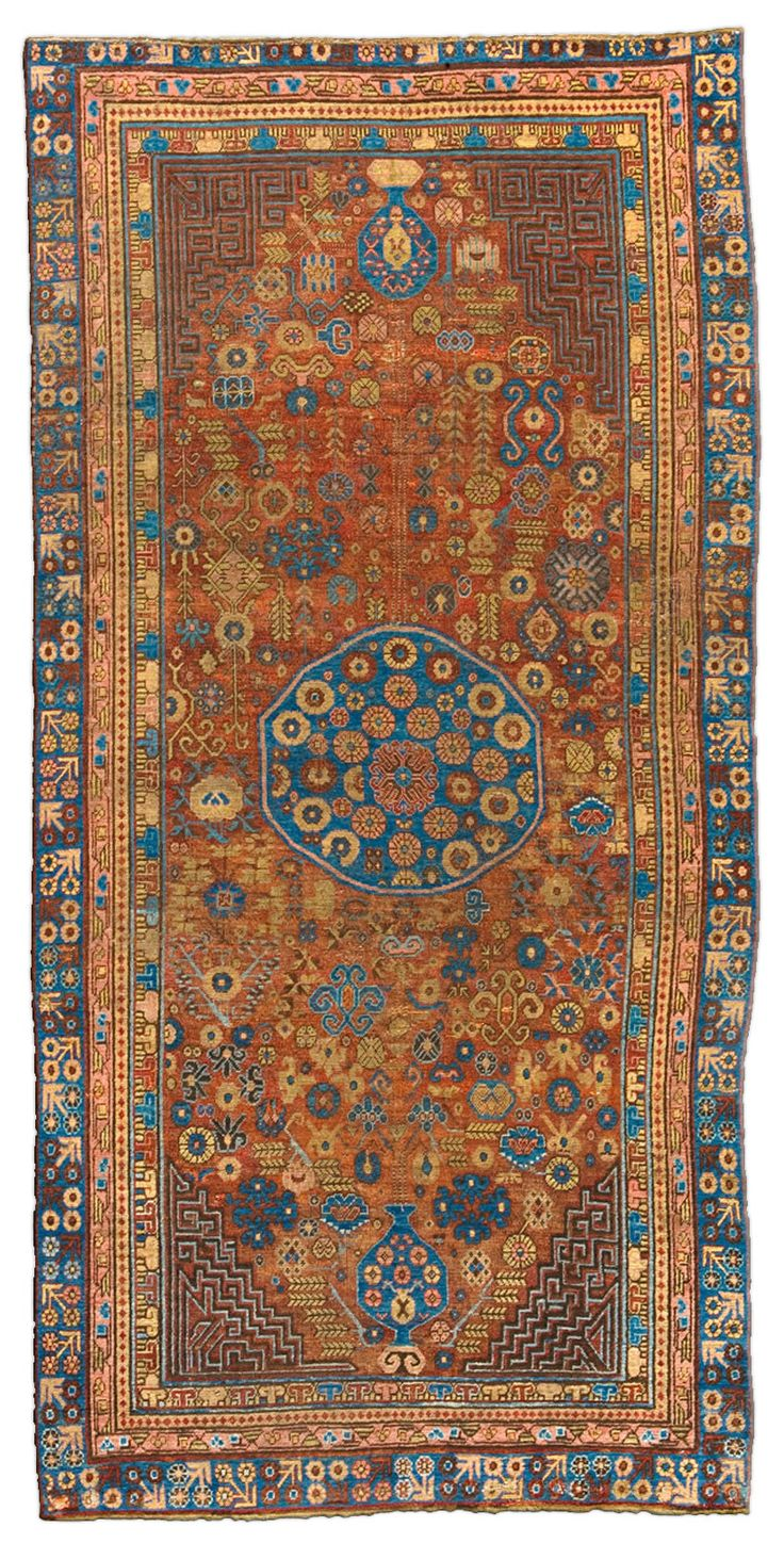 Vintage Rugs: Vintage Rug Samarkand rug for modern or oriental interior decor living room, rug with geometric pattern