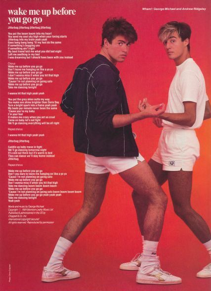 Heard this today.  Love a bit of Wham!