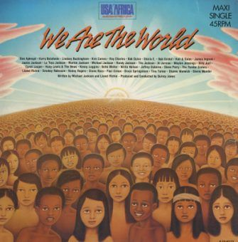We are the world - Michael Jackson album cover, designed by Roland Young