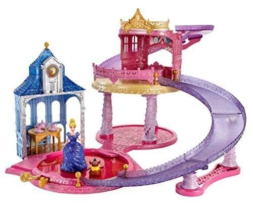 Disney Glitter Glider Playset Castle Princess Cinderella Gus Doll Girl Toy #Disney