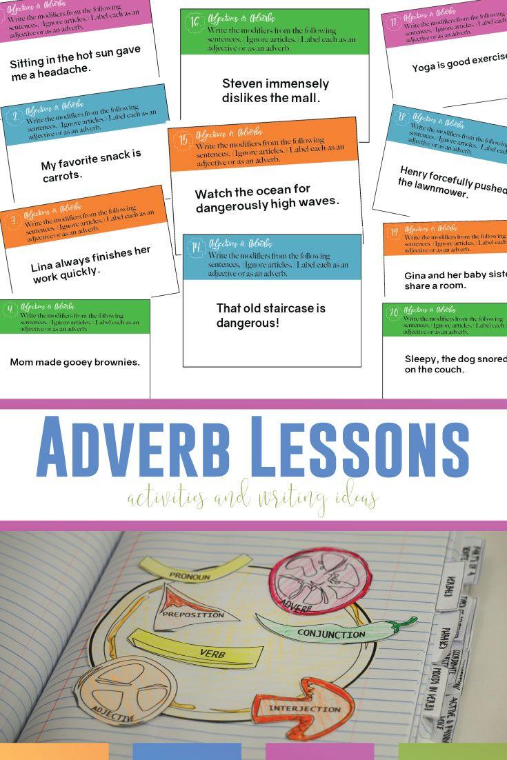 Adverb Lesson Plans: More than Adverb Worksheets   Language Arts Classroom    Adverbs lesson [ 1102 x 735 Pixel ]