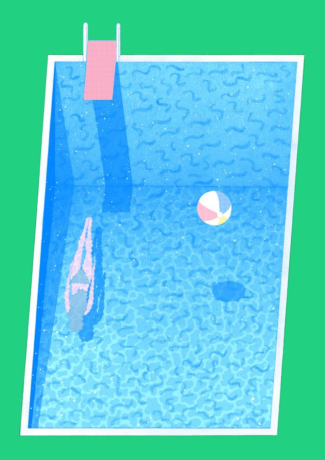 Image of Peppermint Poolside Print