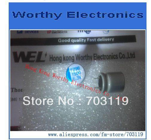 100 шт./лот алюминий / электролитические емкости / 6.3 В 1500 мкФ / 10 X 12 / синий слово / видеокарты , посвященная / короткие ноги фз