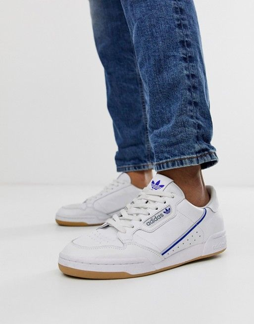 1ab743e1 adidas Originals Continental 80's TFL piccadilly jubilee line sneakers in  white