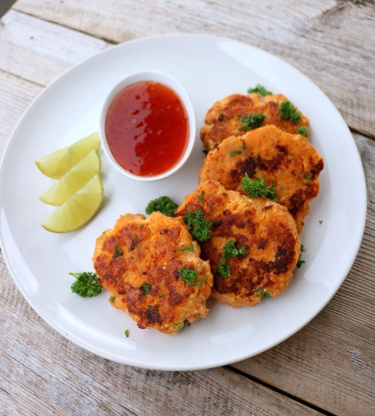 Smakfulle thaifiskekaker - lindastuhaug