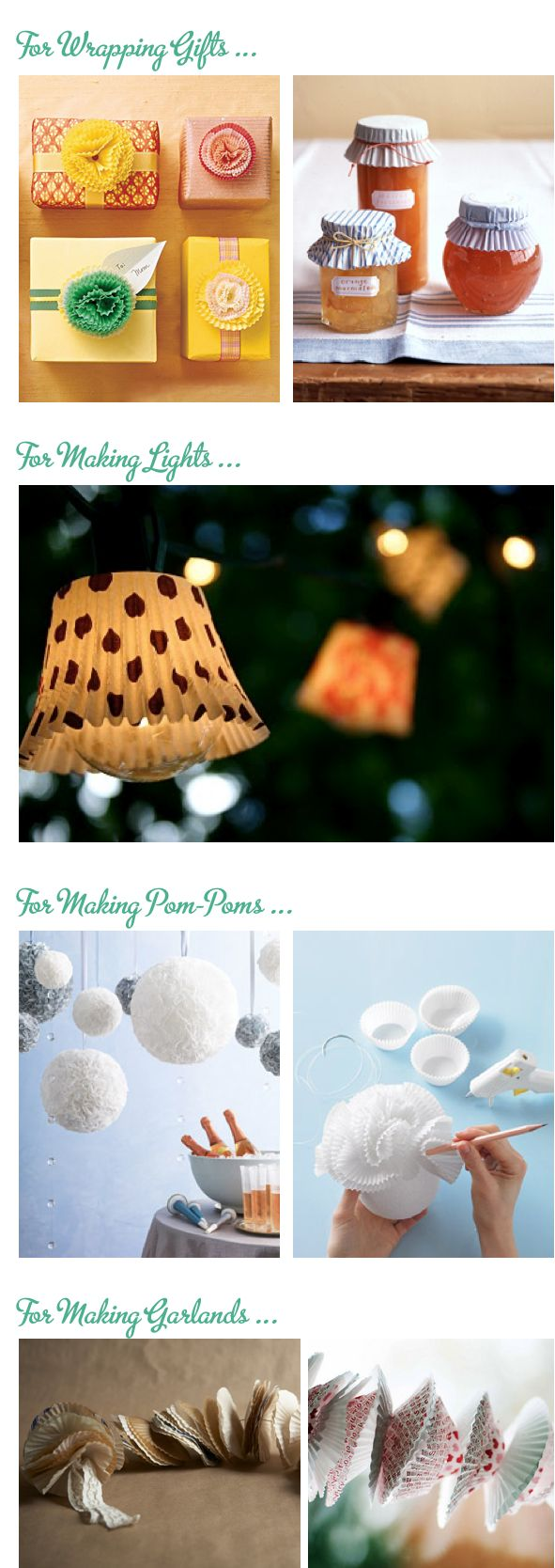 cupcake liners party ideas