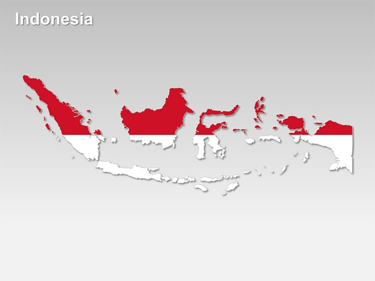 Editable PowerPoint Map: Indonesia Map