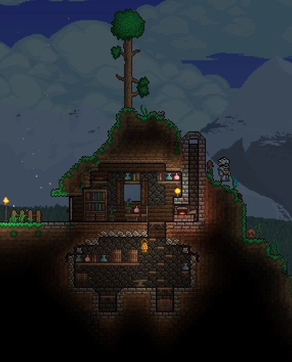 Terraria house games pinterest mind blown awesome for Terraria house designs