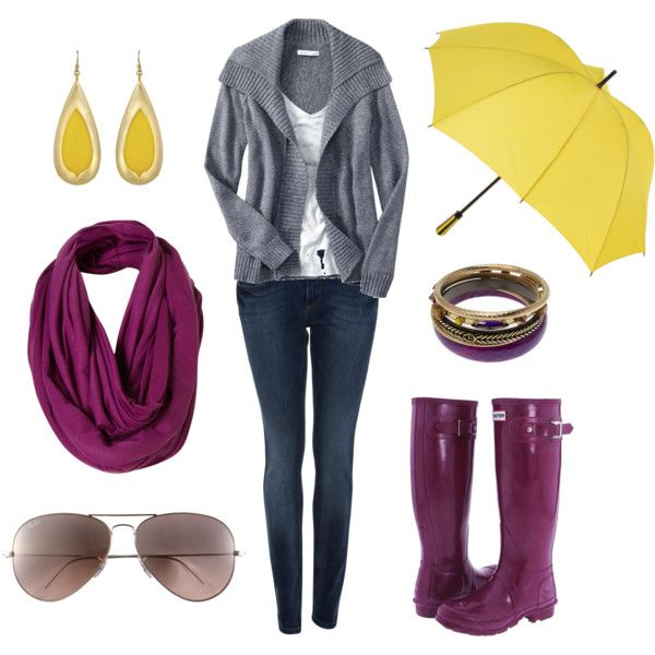 I love purple and yellow together!