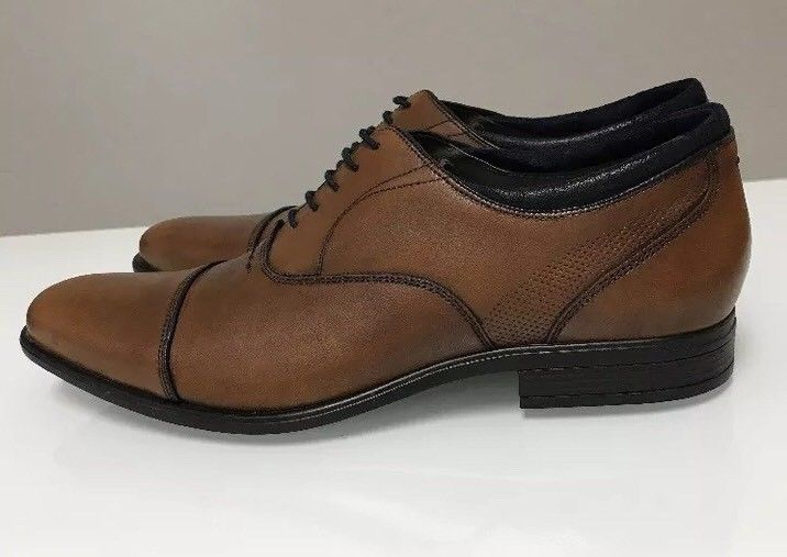 New Hush Puppies Evan Maddow Men's Leather Oxford Dress Shoes Tan Size 12 US  | eBay