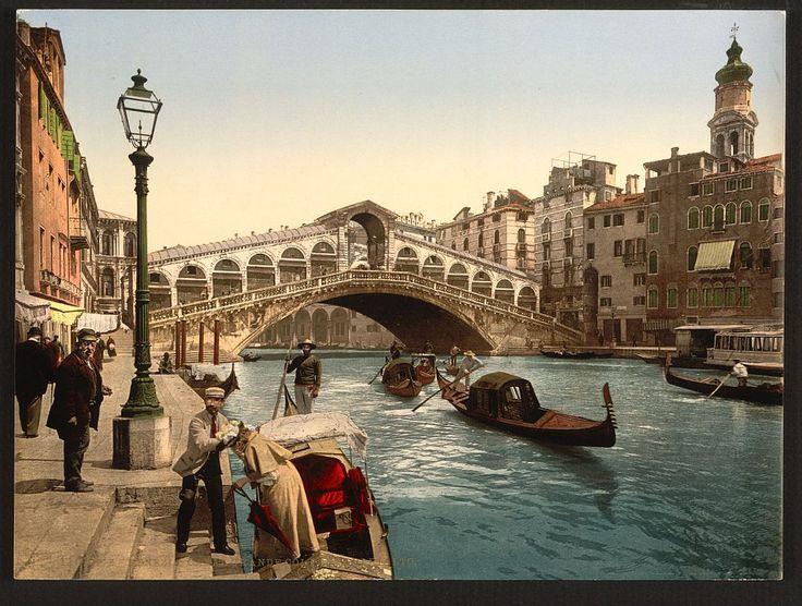 Leather Passport Case - Birds on Bridge in Venice by VIDA VIDA CQfxcAGj