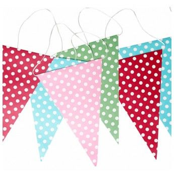 Polka Dots Paper Party Bunting