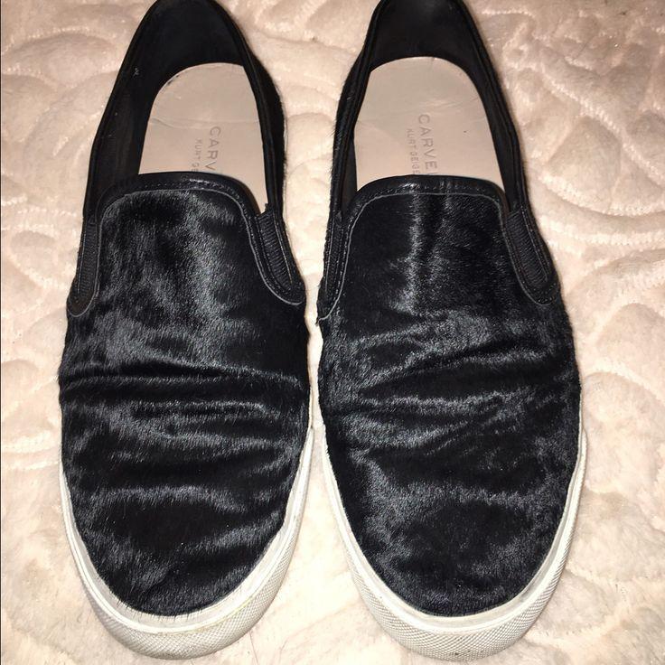 Kurt Geiger Carvela Cow Hair Slip On Shoes 40 Usa9