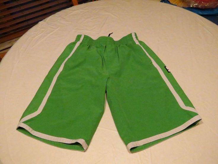 Men's DC diamond shorts green medium M MD active draw string waist surf skate #DC #shorts