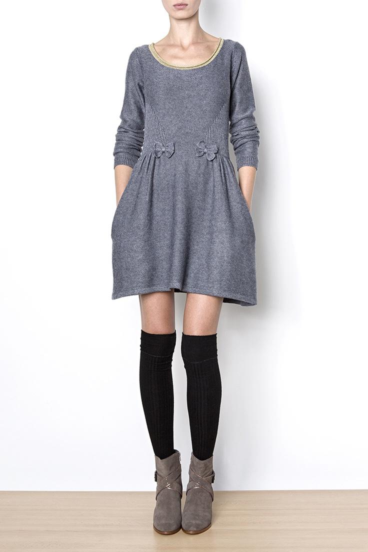 Robe Courte DRESS GALLERY, Col lurex - Mode BE