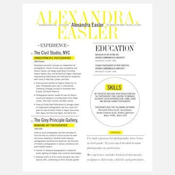 Best Resumes Images On   Resume Design Resume And