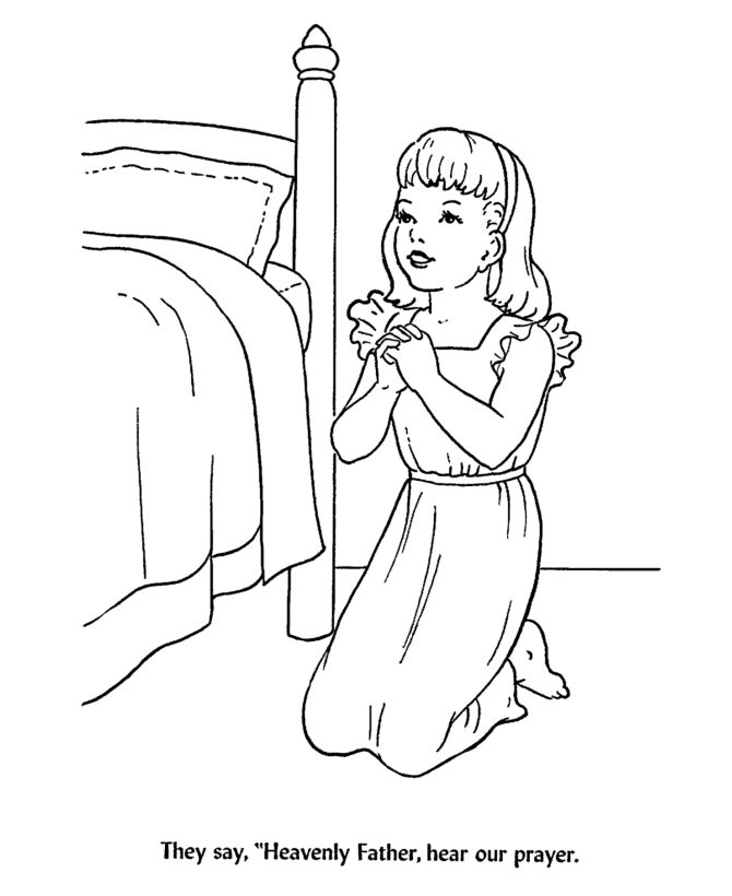 back to school coloring pages children at bedtime prayer coloring activity sheets heavenly father - Free Coloring Sheets For Children