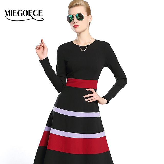 Women Autumn Fitted Dress 2016 MIEGOFCE New Autumn Collection Underskirt and  Bottoming Shirt European Style Long Sleeves hot