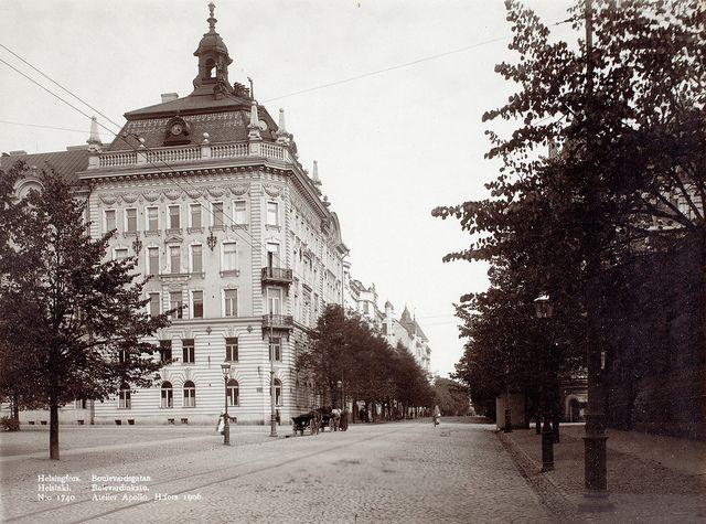 Bulevardinkatu (Bulevardgatan), Helsinki 1906 | Flickr - Photo Sharing!
